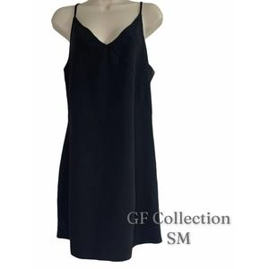 Gentle Fawn Cami Dress, Black, Adj Straps, SM